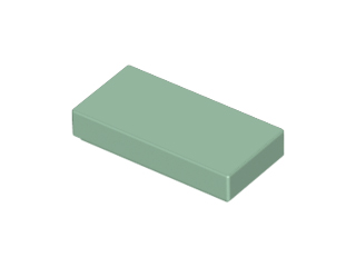 LEGO Tile 1 x 2 with Groove [Sand Green] [3069b]