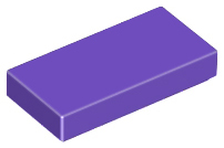 LEGO Tile 1 x 2 with Groove [Dark Purple] [3069b]