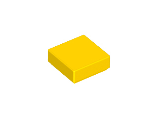 LEGO Tile 1 x 1 with Groove (3070) [Yellow] [3070b]