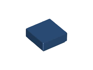 LEGO Tile 1 x 1 with Groove (3070) [Dark Blue] [3070b]