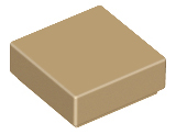 LEGO Tile 1 x 1 with Groove (3070) [Dark Tan] [3070b]