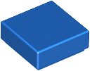 LEGO Tile 1 x 1 with Groove (3070) [Blue] [3070b]