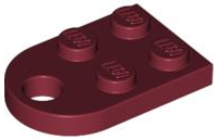 LEGO Plate, Modified 3 x 2 with Hole [Dark Red] [3176]