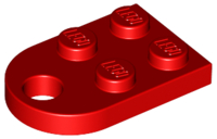 LEGO Plate, Modified 3 x 2 with Hole [Red] [3176]