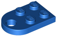 LEGO Plate, Modified 3 x 2 with Hole [Blue] [3176]
