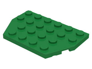 LEGO Wedge, Plate 4 x 6 Cut Corners [Green] [32059]