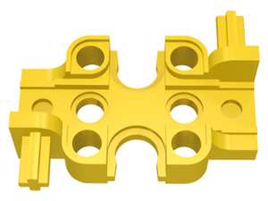 LEGO Technic Rectangular Gearbox Half [Yellow] [32167]
