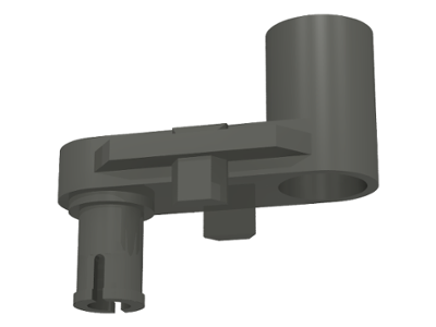 LEGO Znap Crank Connector 1 x 2 x 3 [Dark Gray] [32207]