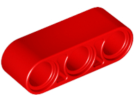 LEGO Technic, Liftarm 1 x 3 Thick [Red] [32523]
