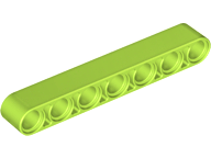 LEGO Technic, Liftarm 1 x 7 Thick [Lime] [32524]