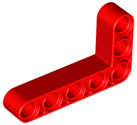 LEGO Technic, Liftarm 3 x 5 L-Shape Thick [Red] [32526]