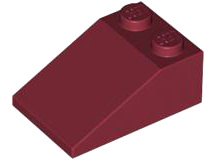 LEGO Slope 33 3 x 2 [Dark Red] [3298]