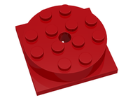 LEGO Turntable 4 x 4 Square Base with Top (3403 / 3404) [Red] [3403c01]