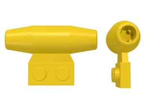 LEGO Engine, Smooth Small, 1 x 2 Side Plate with Axle Holders [Yellow] [3475b]