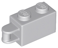 LEGO Brick, Modified 1 x 2 with Handle on End - Bar Flush with Edge of Handle [Light Bluish Gray] [34816]