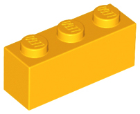 LEGO Brick 1 x 3 [Bright Light Orange] [3622]