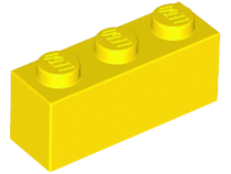 LEGO Brick 1 x 3 [Yellow] [3622]