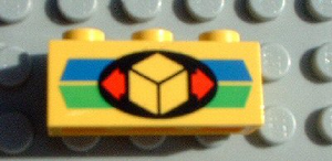 LEGO Brick 1 x 3 with Cargo Pattern [Yellow] [3622pb008]