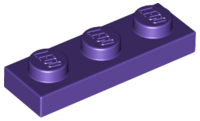 LEGO Plate 1 x 3 [Dark Purple] [3623]