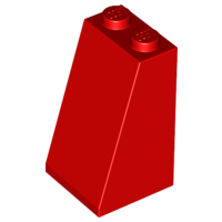LEGO Slope 75 2 x 2 x 3 - Solid Studs [Red] [3684c]