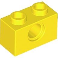 LEGO Technic, Brick 1 x 2 with Hole [Yellow] [3700]