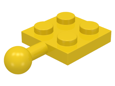 LEGO Plate, Modified 2 x 2 with Towball [Yellow] [3731]