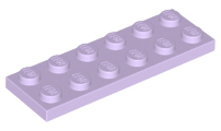 LEGO Plate 2 x 6 [Lavender] [3795]