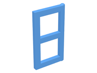 LEGO Window 1 x 2 x 3 Pane [Medium Blue] [3854]