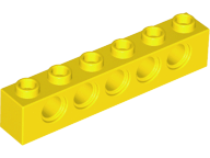 LEGO Technic, Brick 1 x 6 with Holes [Yellow] [3894]