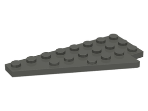 LEGO Wedge, Plate 8 x 4 Wing Left [Dark Gray] [3933]