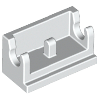 LEGO Hinge Brick 1 x 2 Base [White] [3937]