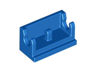 LEGO Hinge Brick 1 x 2 Base [Blue] [3937]
