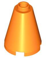 LEGO Cone 2 x 2 x 2 - Open Stud [Orange] [3942c]