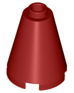 LEGO Cone 2 x 2 x 2 - Open Stud [Dark Red] [3942c]