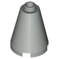LEGO Cone 2 x 2 x 2 - Open Stud [Light Gray] [3942c]