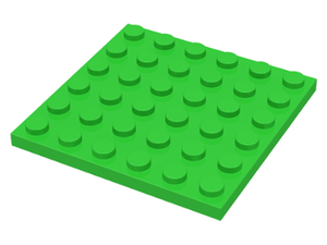 LEGO Plate 6 x 6 [Bright Green] [3958]