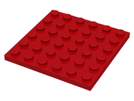 LEGO Plate 6 x 6 [Red]  [3958]