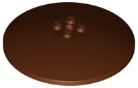 LEGO Dish 8 x 8 Inverted (Radar) [Reddish Brown] [3961]