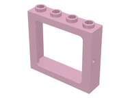 LEGO Window 1 x 4 x 3 Train - Hollow Studs [Pink] [4033]