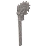 LEGO Bionicle Weapon Long Axle Circular Saw Staff with Pin Hole [Flat Silver] [40341]