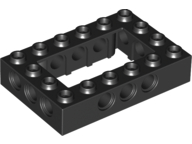 LEGO Technic, Brick 4 x 6 Open Center [Black] [40344]