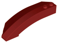 LEGO Wedge 8 x 3 x 2 Open Right [Dark Red] [41749]