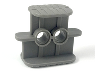LEGO Rubber Band / Belt Holder 2 x 4 x 2 1/3 [Dark Bluish Gray] [41752]