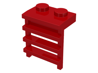 LEGO Plate, Modified 1 x 2 with Ladder [Red] [4175]