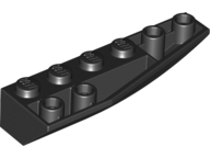 LEGO Wedge 6 x 2 Inverted Right [Black] [41764]