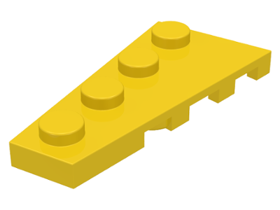 LEGO Wedge, Plate 4 x 2 Left [Yellow] [41770]