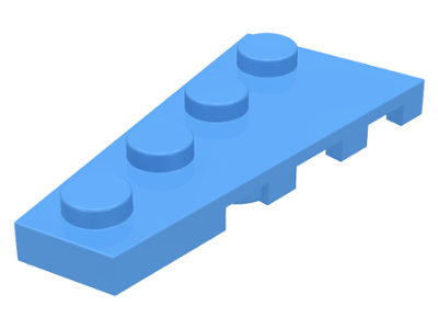 LEGO Wedge, Plate 4 x 2 Left [Medium Blue] [41770]