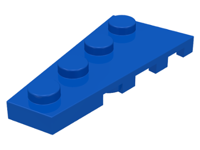 LEGO Wedge, Plate 4 x 2 Left [Blue] [41770]