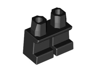 LEGO Legs Short [Black] [41879]