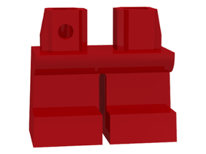 LEGO Legs Short [Red]  [41879]